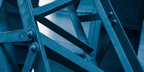 structural steel close up