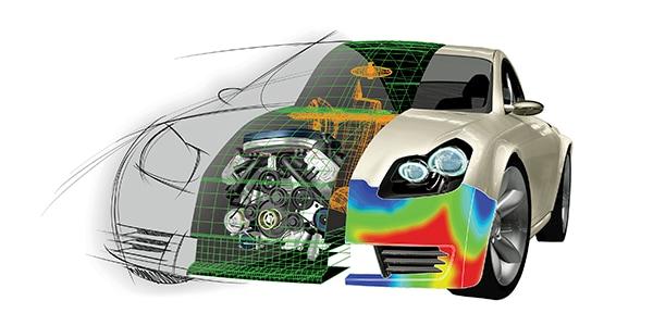 オートデスクの インベンターを含んだ3D デザインツールを駆使した車のレンダリングイメージ