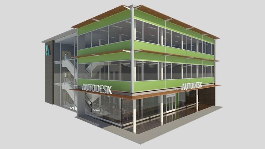 3d rendering of Autodesk building
