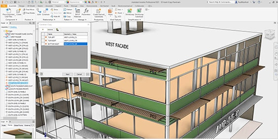 building design in Inventor software