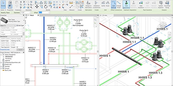 electrical drawing in Revit software