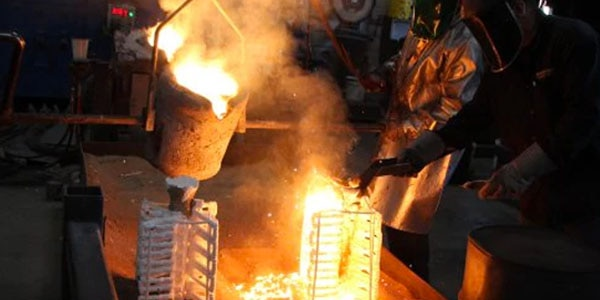 Metal casting is used to produce complex metal parts