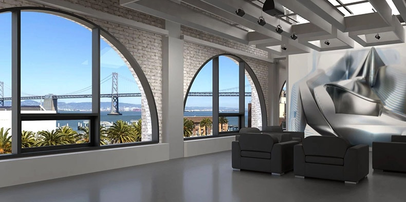 Rendering of the interior of the Autodesk San Francisco offices at One Market