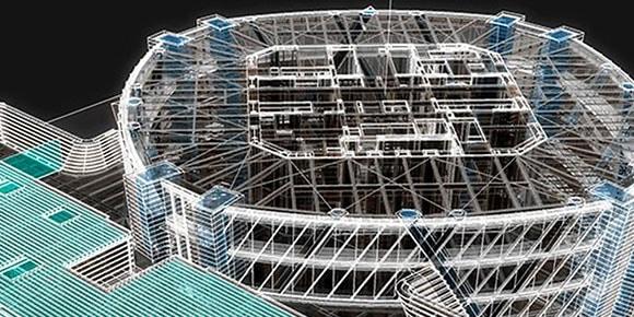 3-D model of building