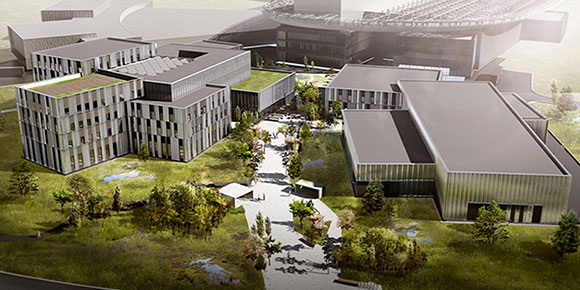 Render of a campus