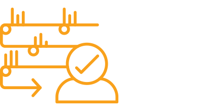 Icon of a person verifying a process