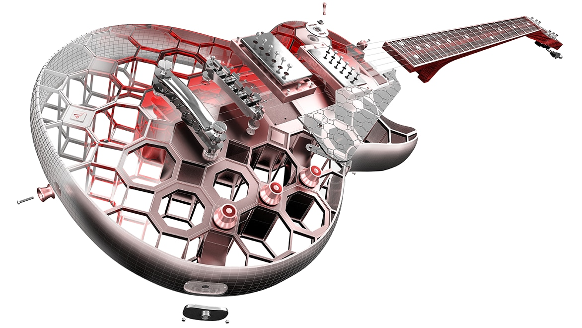 3D guitar rendering
