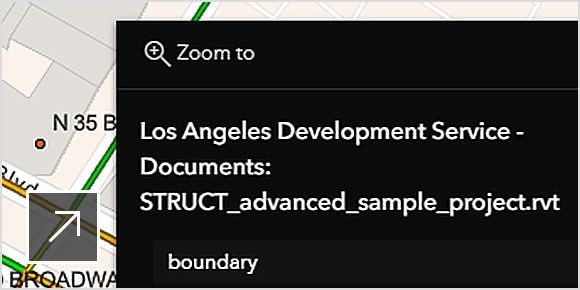 Project documentation and map view in a web app