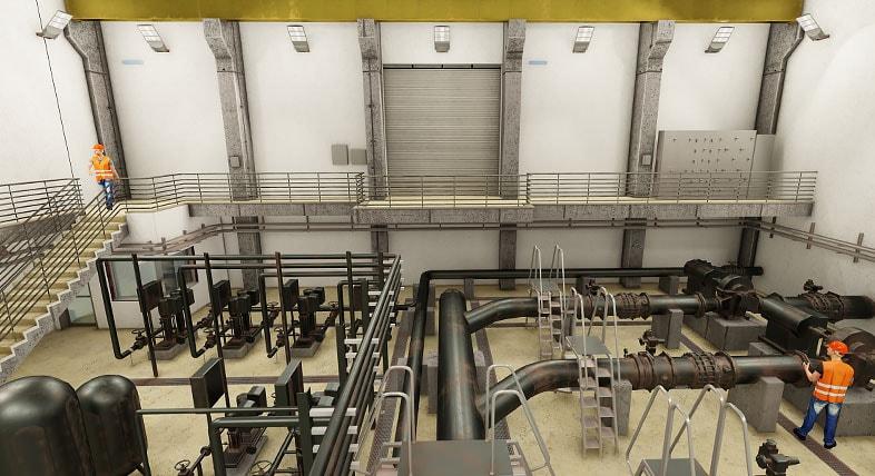 BIM-based water treatment plant