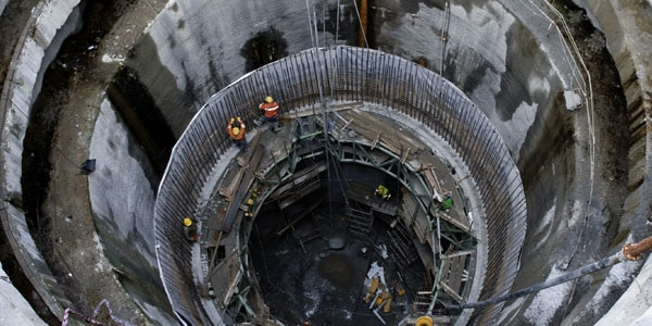 Subway tunnel under construction