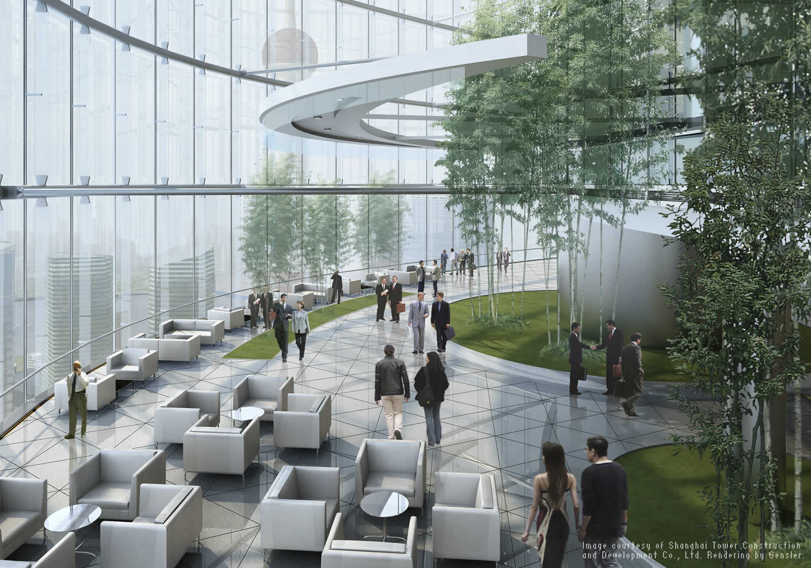 Courtyard Plans Meet Shanghai Tower China S Tallest Building Autodesk