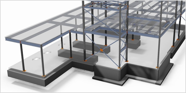 TSI Structures Advance Steel model
