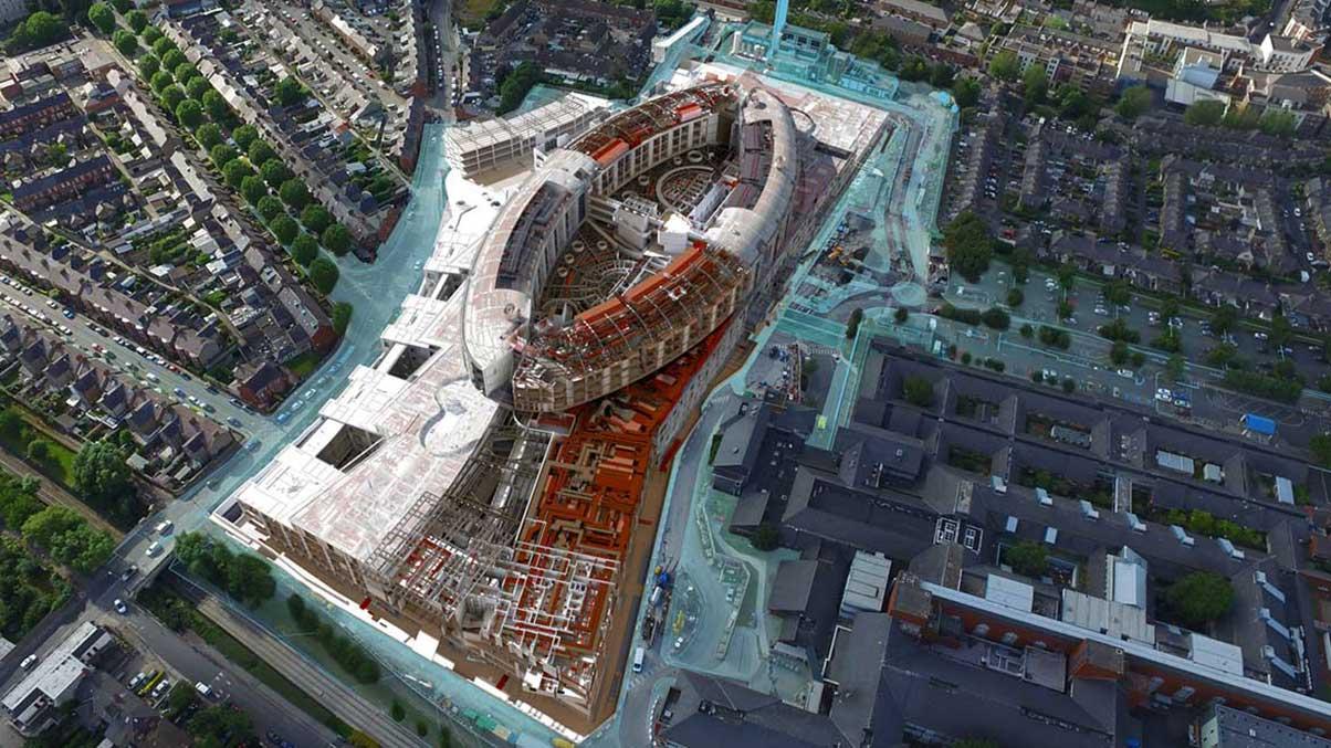 Sobreposição de estrutura de arame do New Children's Hospital