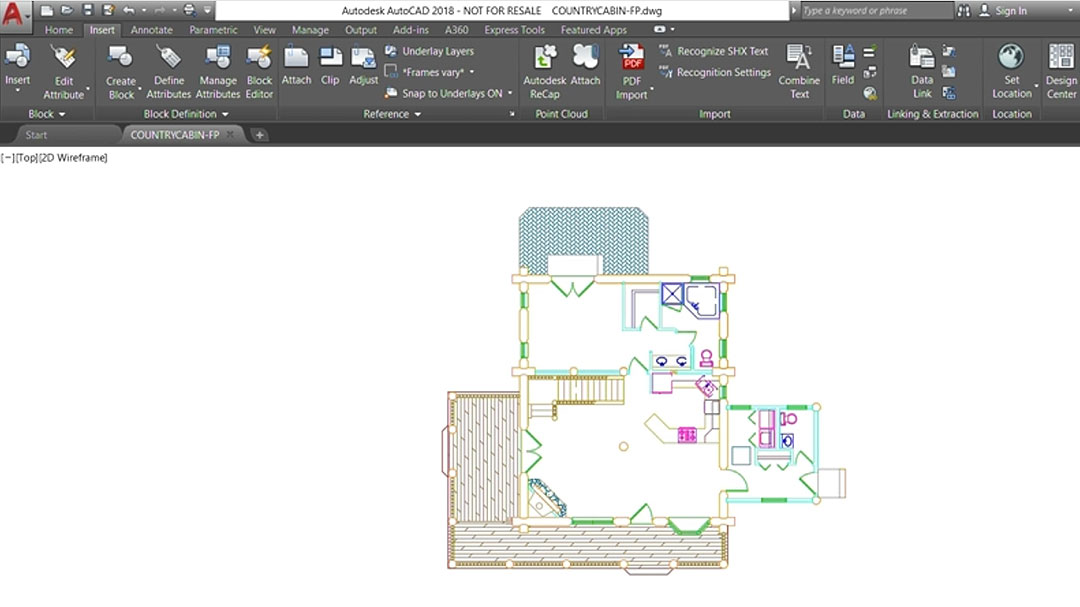 Developing a CAD drawing for facilities management