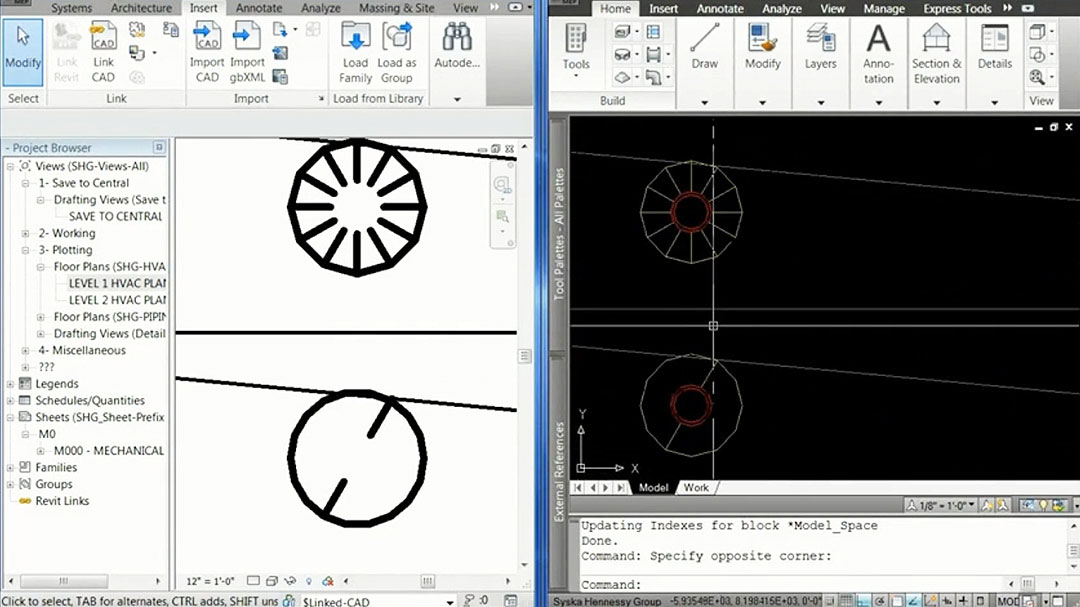 Import CAD drawings into Revit software