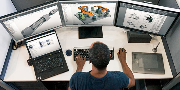 Mechanical engineers use CAD drawings