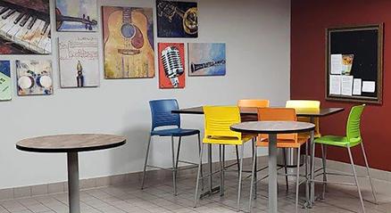 Renderização do AutoCAD de uma sala de descanso
