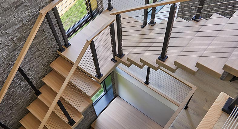 Custom stairs designed by Viewrail