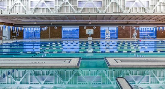 indoor swimming pool at the YK Fitness Center