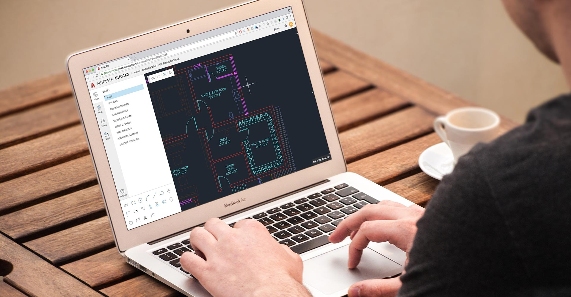Editor de CAD do AutoCAD on-line na Web