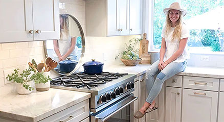 Danielle Golden Irby at one of her recent kitchen designs