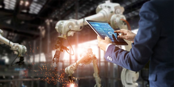 Real-time data being used to improve manufacturing robots in smart factory