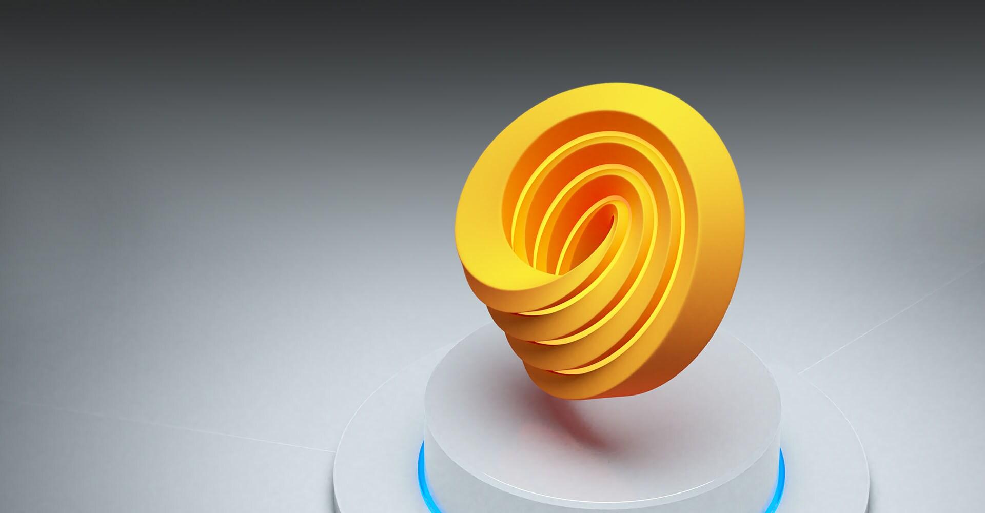 Autodesk Forge Development Platform logo in 3D
