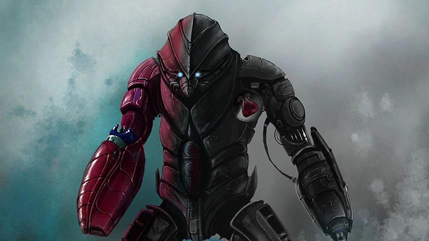 Cyborg en armure