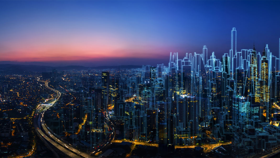 Digital Twin of Kuala Lumpur aerial view
