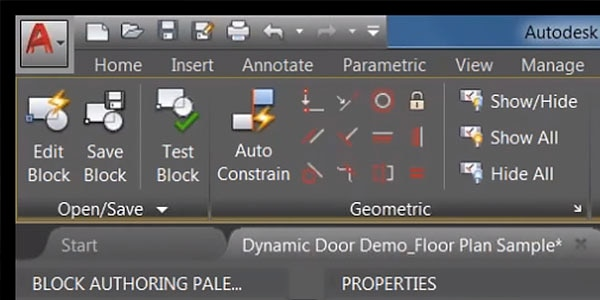 AutoCAD user interface demo
