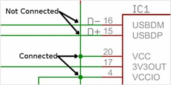 구성요소를 연결하는 AutoCAD 배선
