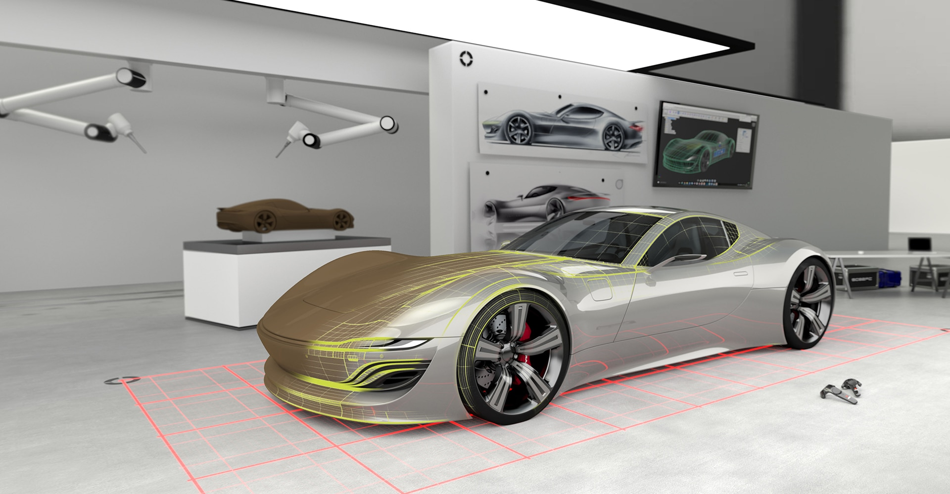 Automotive and car design software manufacturing autodesk a glimpse into the car design studio of the future malvernweather Images