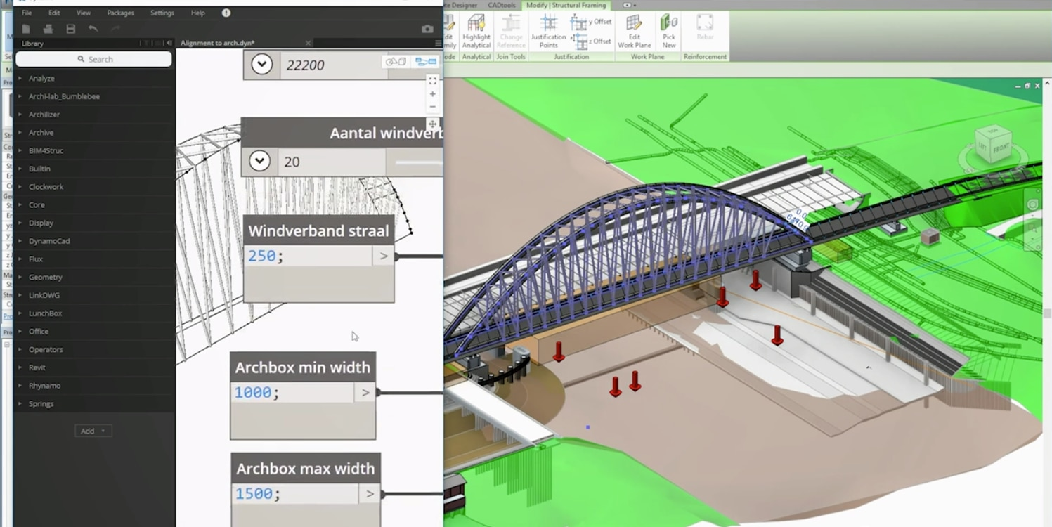 Joost Schlebaum, BIM Manager from Arup discusses the use of Revit, InfraWorks and design automation on a complex bridge design