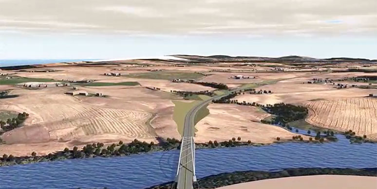 3d model of major new highway