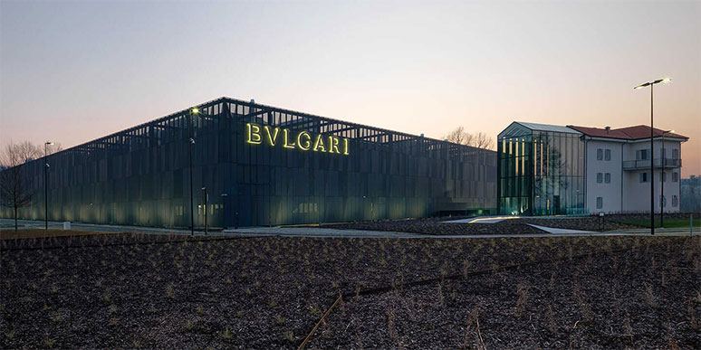 Exterior of Bulgari Factory