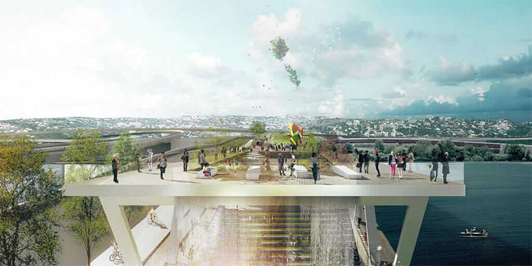 11th Street Bridge Park/Anacostia Crossing. Courtesy OMA+OLIN
