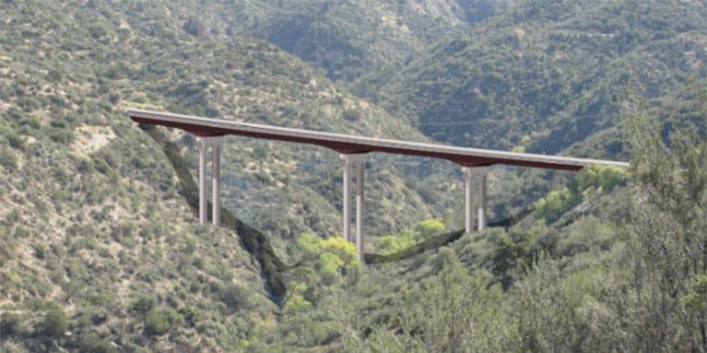 3D rendering of the bridge across Pinto Creek