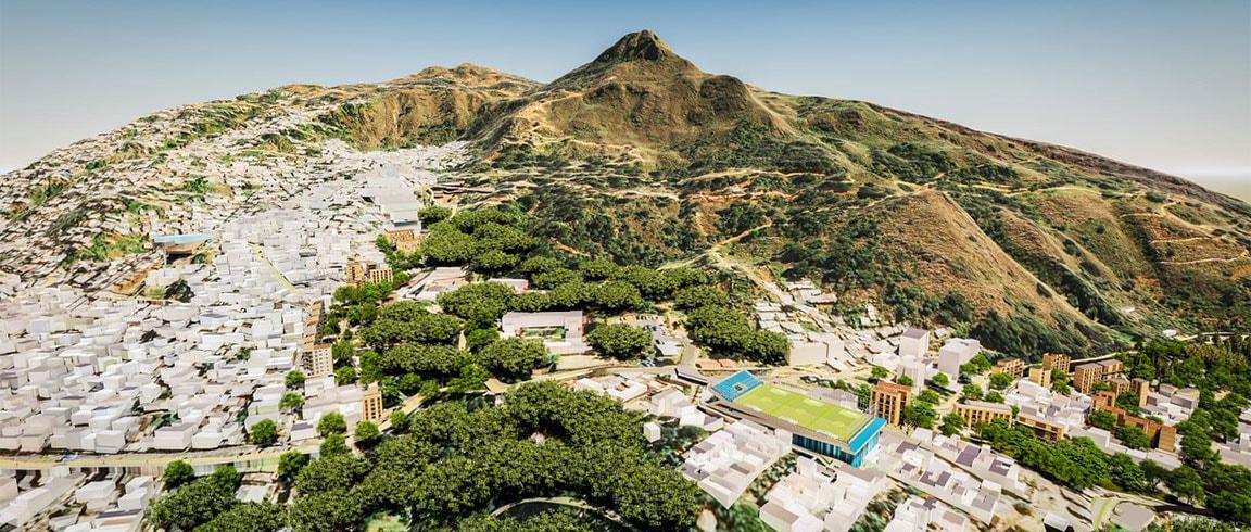 Model of site development in Medellín, Colombia