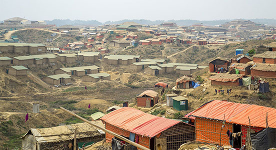 Photograph of refugee site in Bangladesh