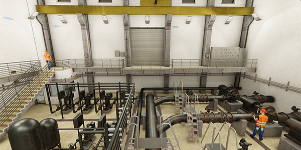 BIM-based water treatment plant