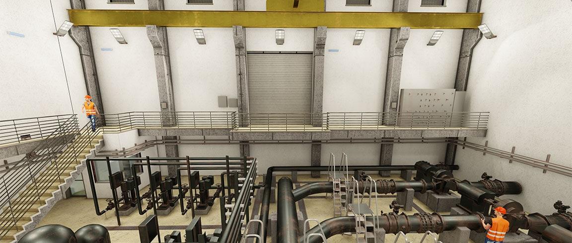 Impianto di trattamento delle acque basato sul BIM