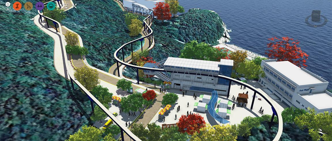 Sambo BIM model of Taejongdae Park monorail