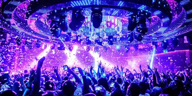 lights in Omnia Nightclub at Caesars Palace