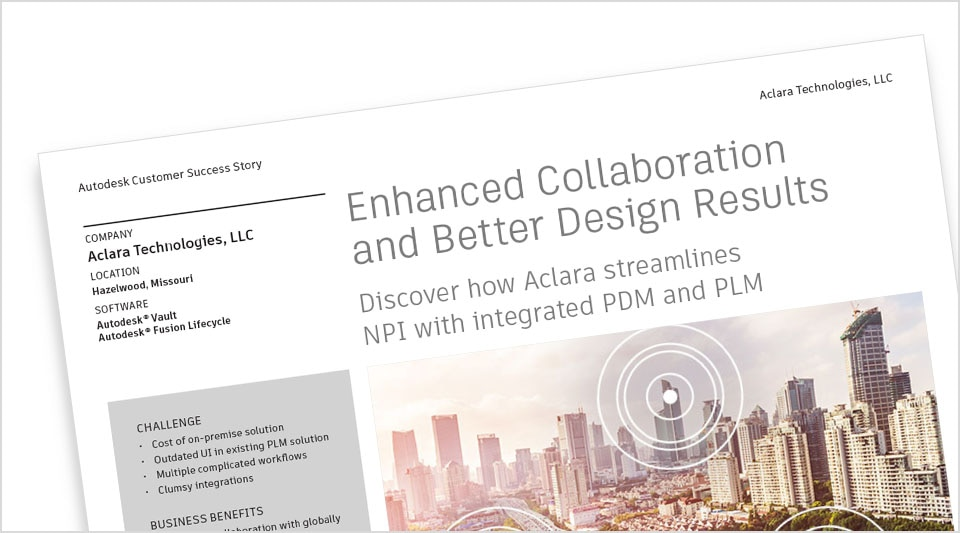 Aclara streamlines operations using Autodesk PLM and PDM products