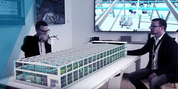 Using augmented reality to visualize a building before it's made