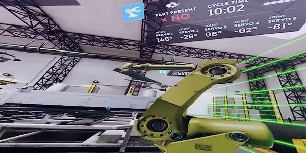 Factory simulation with virtual reality