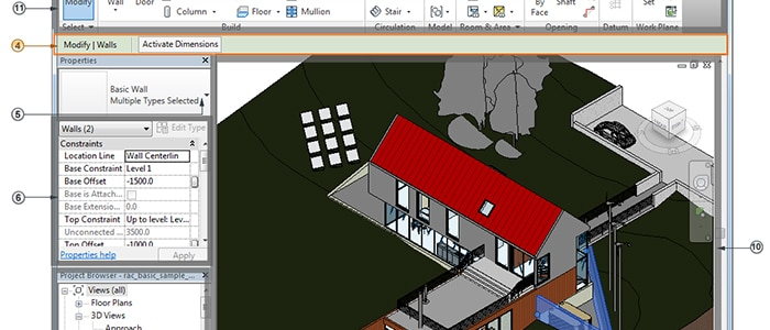 Tour the Revit user interface