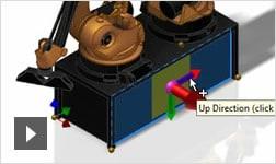 Видеоролик: создание параметрических компонентов для проектирования промышленных предприятий