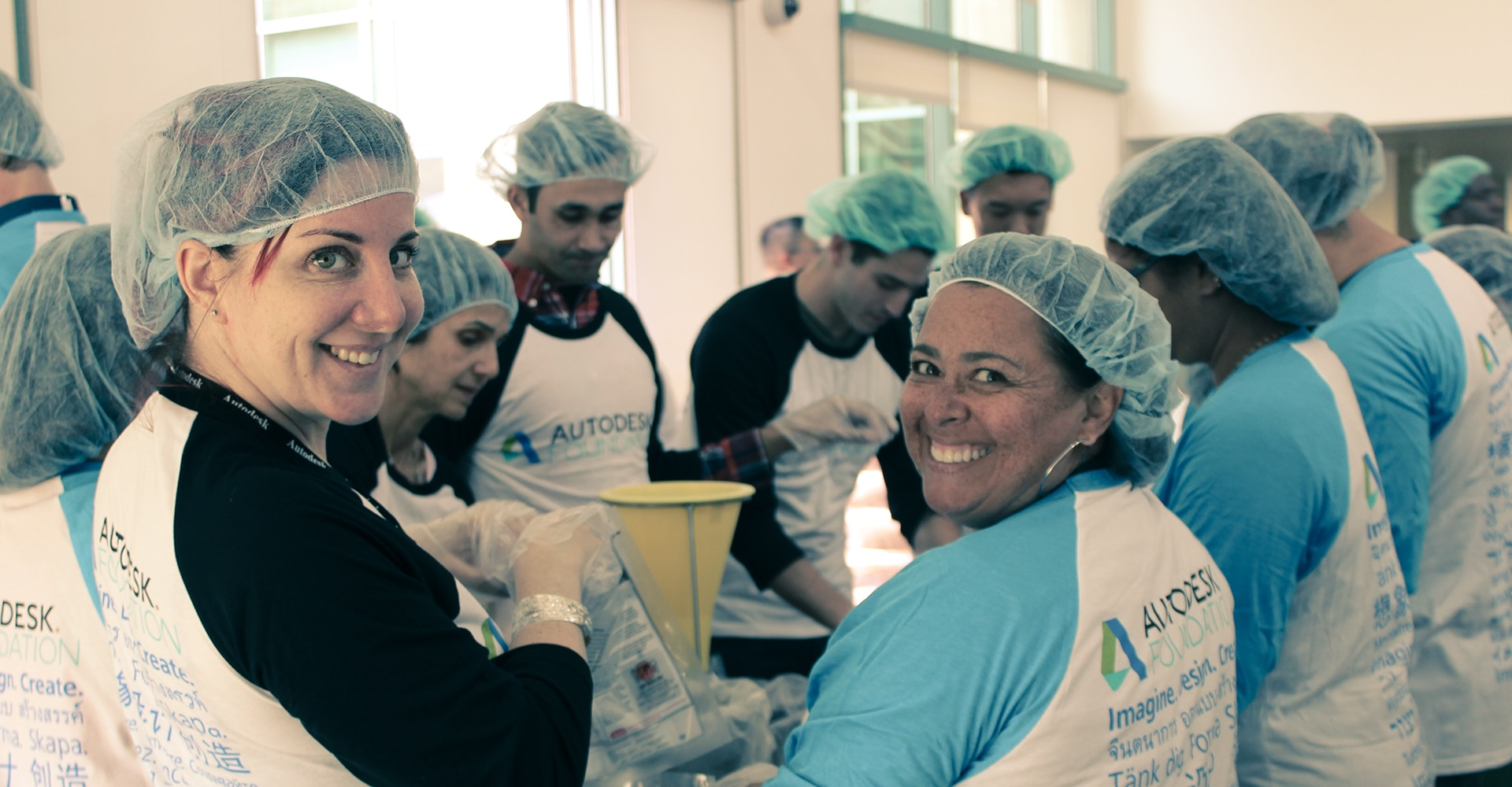 Autodesk employee engagement volunteers