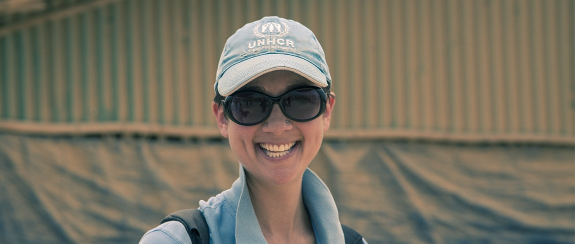 UNHCR Site planner Phoebe Goodwin